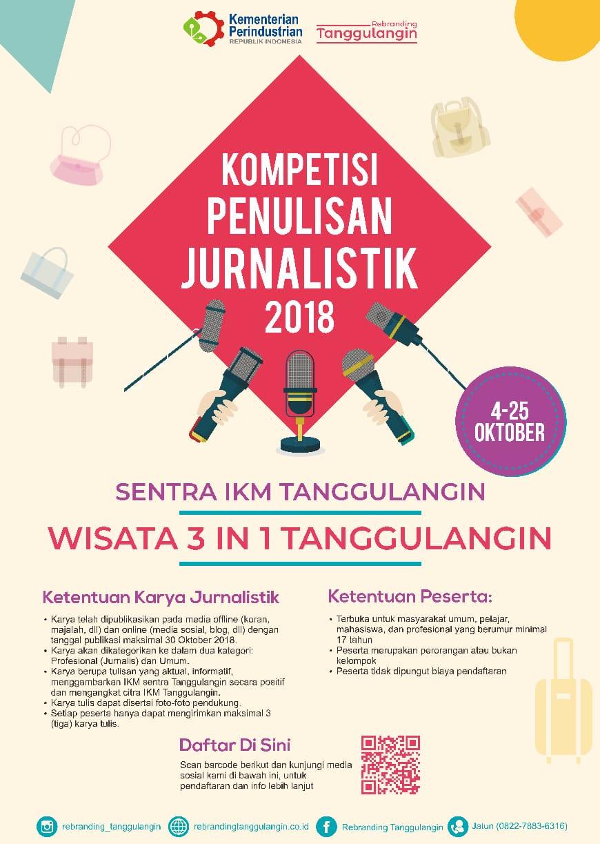 Kompetisi Penulisan Jurnalistik Sentra IKM Tanggulangin 2018