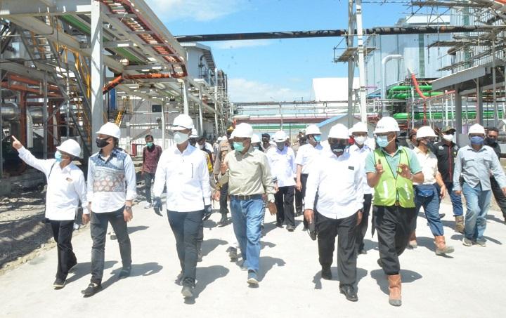 Kemenperin Menperin Meninjau Pabrik Gula Bombana