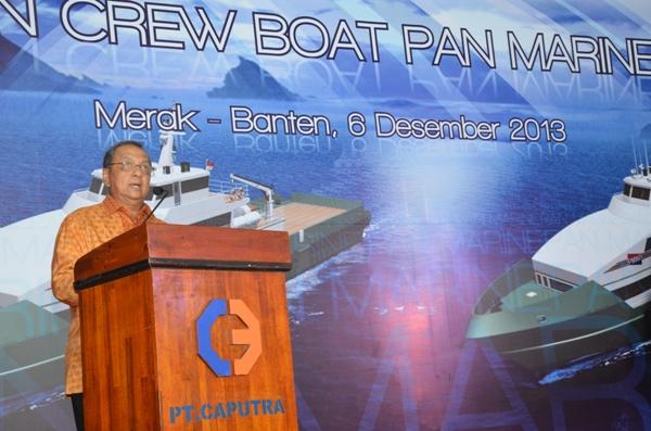sambutan menteri perindustrian dalam pelepasan aluminium crew boat